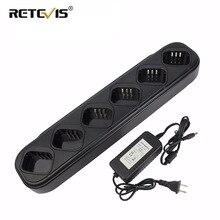 Walkie talkie/carregador de bateria único, carregador rápido de seis vias para tyt MD 380 md 380 md380 retevis carregador de rádio rt3 rt3s dmr