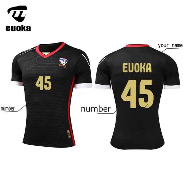 917bee320f9 Top Thai Quality Euoka Soccer Jerseys 2017 2018 Men Training Football Shirt  Suit survetement football maillot de foot