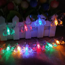 2m 3m 4m 5m 10m Battery Operated Butterfly LED String Fairy Lights Christmas Garlands Guirlande Lumineuse led guirnaldas