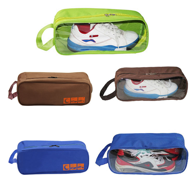 Portable Polyester Travel Outdoor Football Boot Sports Gym Shoe Bag Carry Storage Case Box Organizer Container