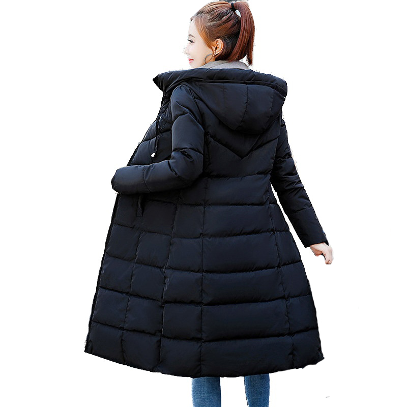 Plus size 6XL jackets 2019 Fashion Women Winter Coat Long Slim Thicken Warm Jacket Cotton Padded Jacket Outwear   Parkas