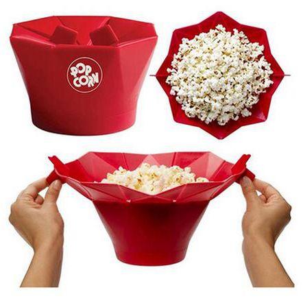 Küche Zubehör Kreative Popcorn Maker Eimer Snack schüssel DIY Silikon Mikrowelle Familie Partei Liefert Küche Werkzeuge.