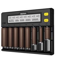 C8 スマートバッテリー充電器 8 スロット lcd ディスプレイリチウムイオン LiFePO4 ニッケル水素ニッケルカドミウム AA 21700 20700 26650 18650 充電器