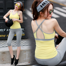 Women's Sportswear Two-piece Women Yoga Sets Vest and Pants Solid Cute Breathable Fitness Jogging Suits for Women Gym Outside