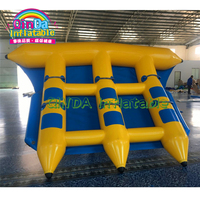 0.9mm PVC Tarpaulin Inflatable Water Toys Inflatable Flying Fish Towable, Inflatable Flyfish Boat