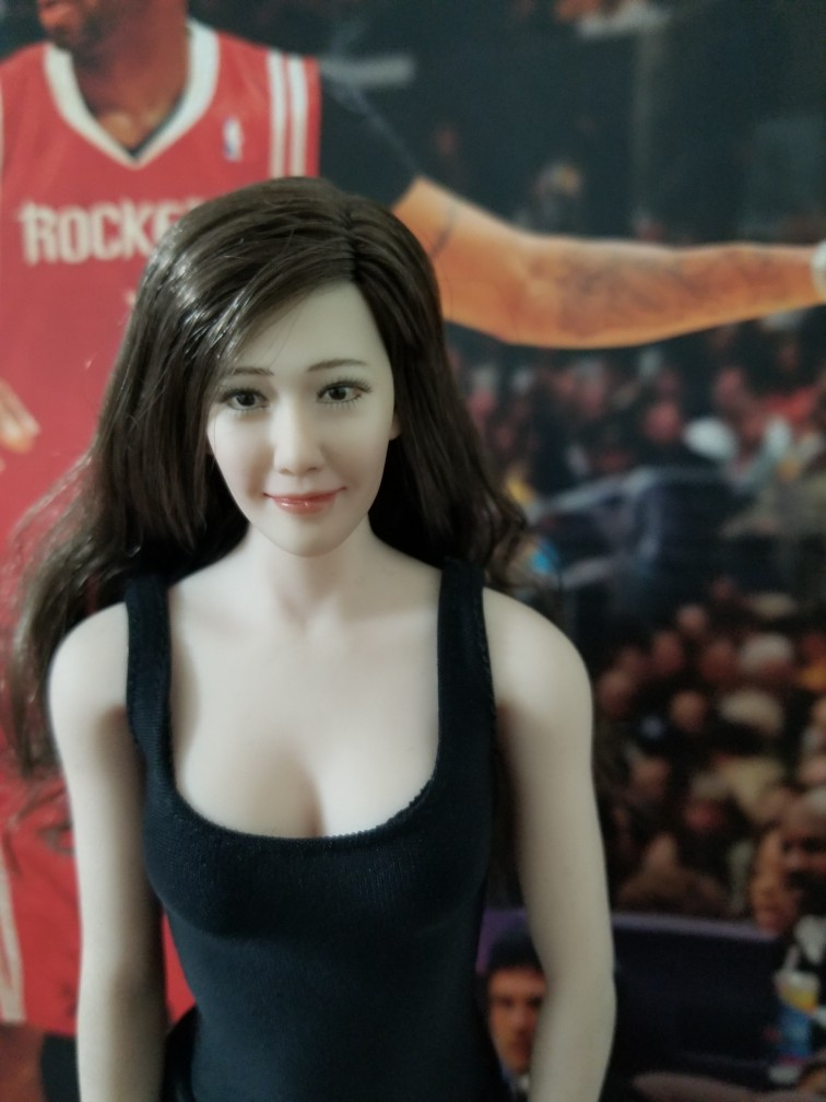 Image 2 - 1/6 Scale Korean Star Lim Yoona A Head Sculpt Female Head Sculpt Model Long Hair For 12 inch DIY PH UD JIAOU Doll Action FiguresAction & Toy Figures   -