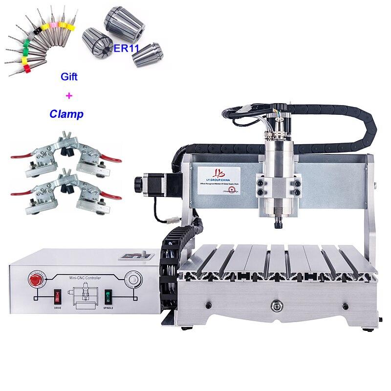 1.5KW CNC routeur 3040 Machine de découpe en métal vis à billes 4030 avec Kit outils de gravure pince ER11 mandrin de collecte