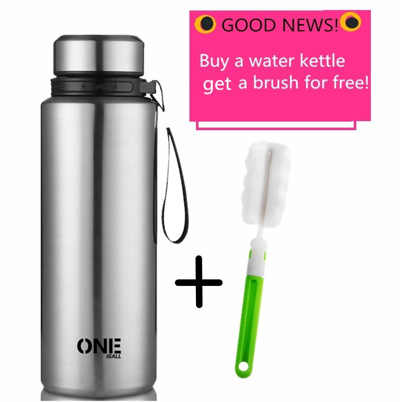 New 1L Water Kettle Vacuum Insulation Bottle 304stainless steel Thermo bottle Thermal Cup With Tea Filter Thermol Flask Outdoor