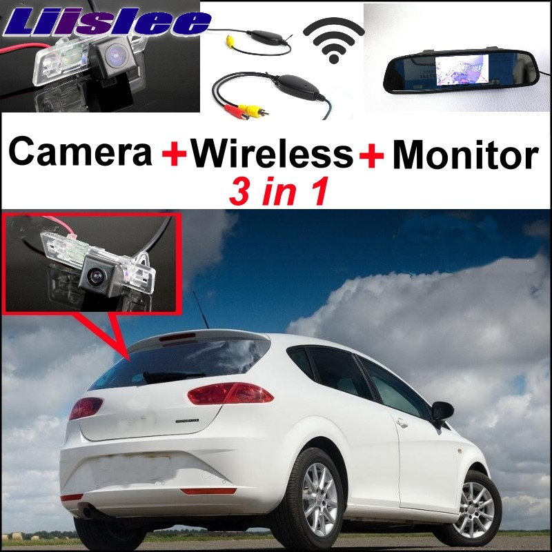 Liislee 3in1 Wireless Receiver + Special WiFi Camera + Mirror Screen Monitor Rear View BackUp Parking System For SEAT Leon MK2 lcl 31 32 33 34 2 pack black ink cartridge compatible for dell v525w dell v725w