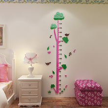 Acrylic 3D height sticker Cartoon big tree 3d wall childrens room cartoon baby measuring bedroom