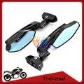 Black Motorcycle Mirror Sport Bike Moto Bar End Mirror Rearview Side Mirror For Yamaha FZR YZF 600 600R R1 R6 R6S Kawasaki Ninja