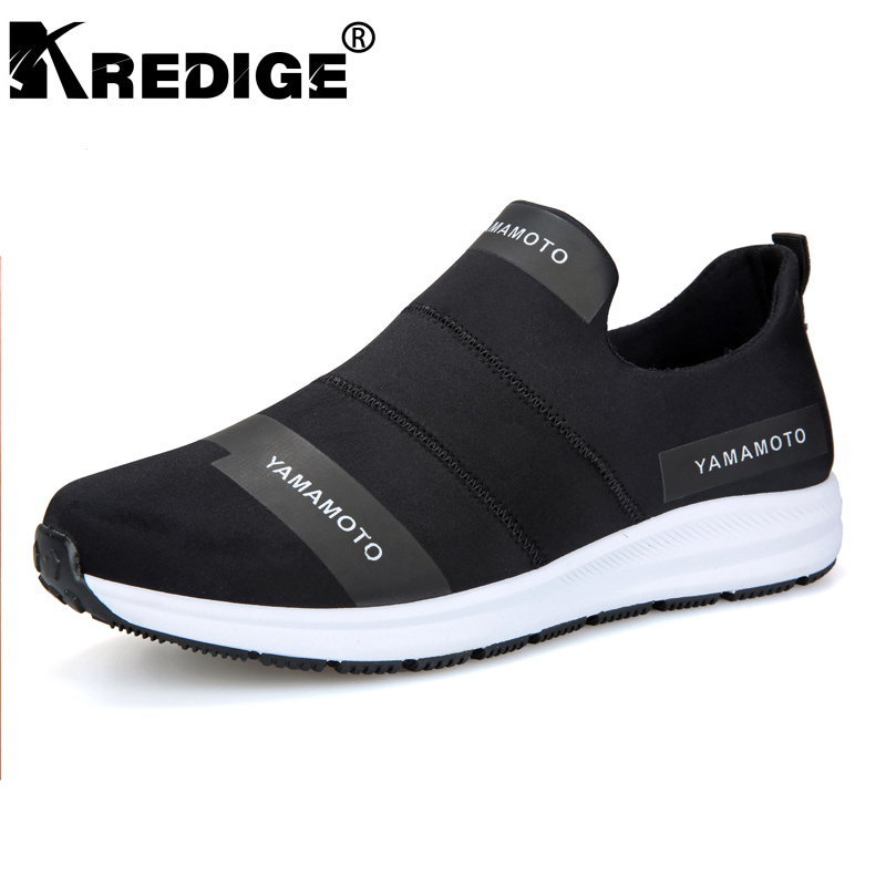 KREDIGE Breathable Non Slip Casual Men s Shoes Hard Wearing Soles Breathable Streth Fabric Shoes Letter