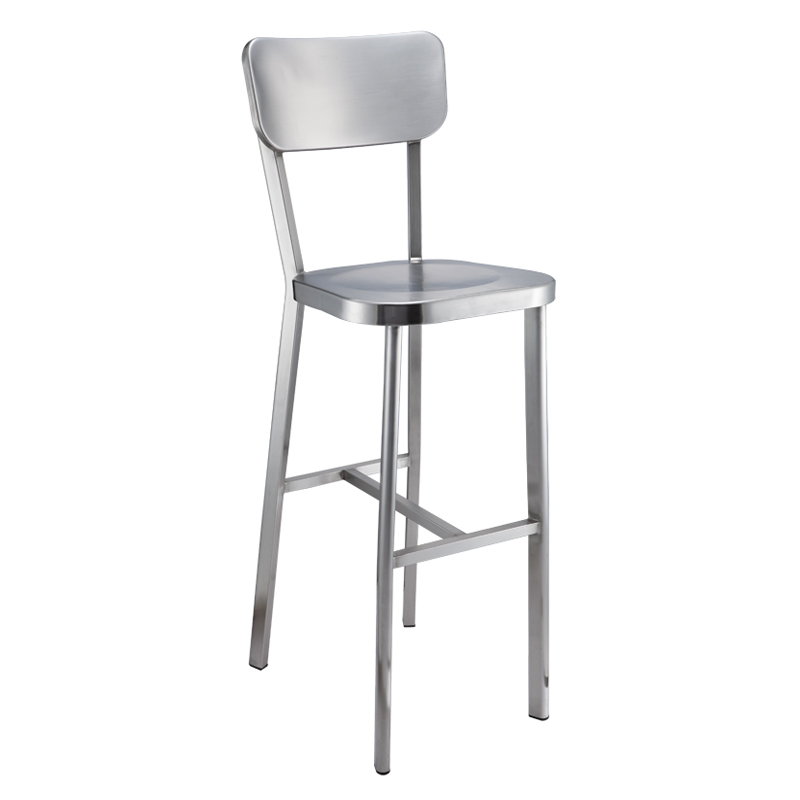 Fashion American Style Highchair Stainless Steel Coffee Bar Stool Chair