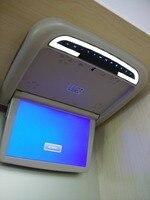 Hzhzqx dv12v 12.1 inch потолок флип Подпушка ЖК Авто Моторизованный Крыши монитор шины с ИК HDMI Вход/SD /USB Порты и разъёмы fm автобус dvd pl