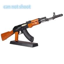 1:3.5 Hot Sale AK47 metal toy gun model Toy Guns sniper rifle children AK74 DIY Gift collection juguetes model gun can not shoot