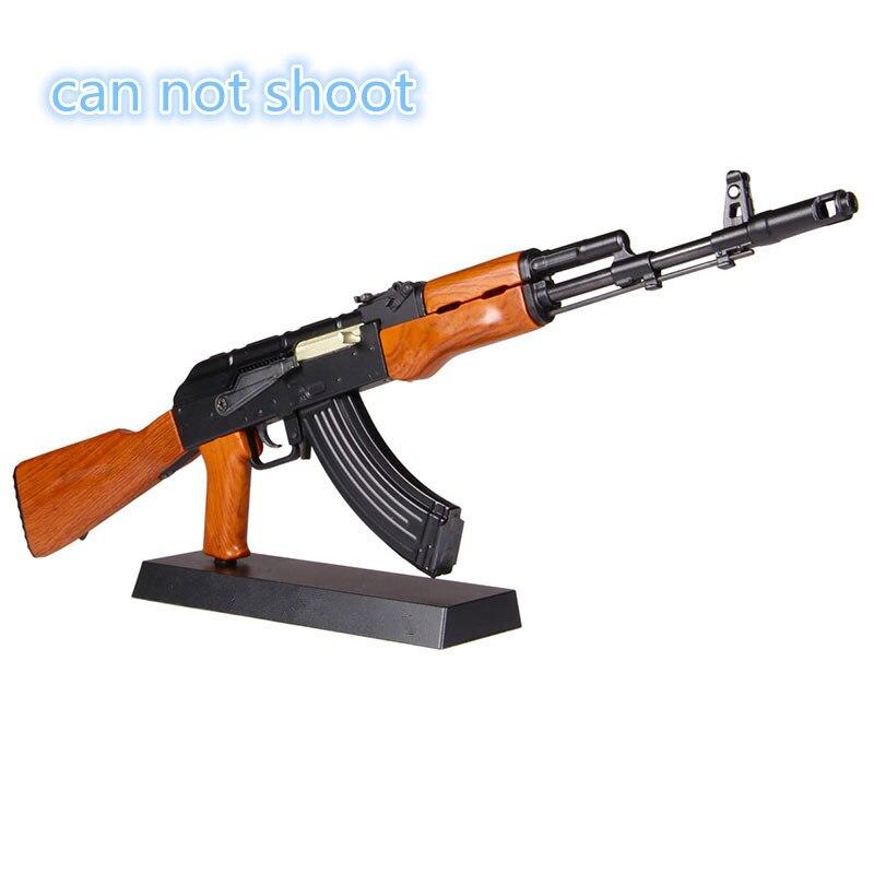 1:3, 5 Venta caliente AK47 metal pistola de juguete modelo de juguete armas rifle de francotirador niños AK74 DIY regalo colección juguetes pistola modelo no se puede disparar