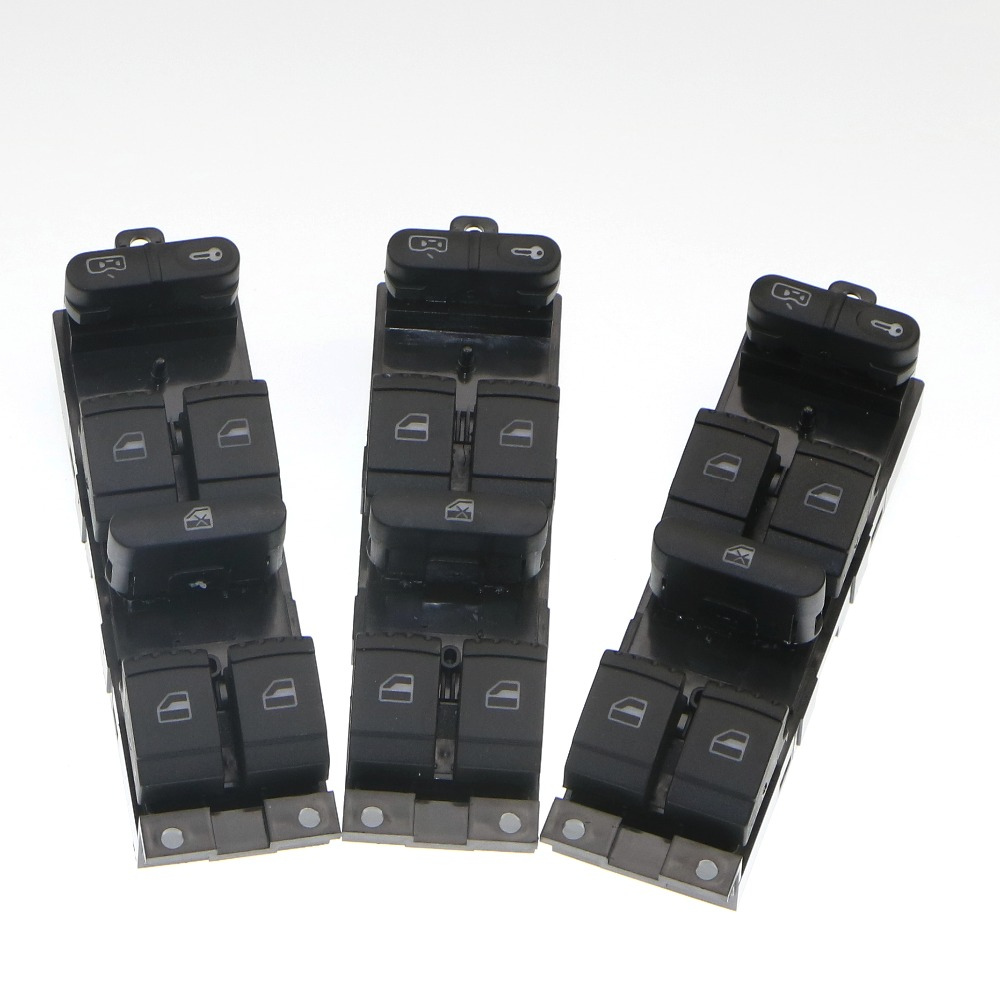 3Pcs Driver Side Window Glass Lock Master Switch Button