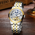 LIGE colouring Hollow Skeleton Automatic Mechanical Watches Mens Top Brand Luxury Business Full Steel  Wristwatch Clock Hour