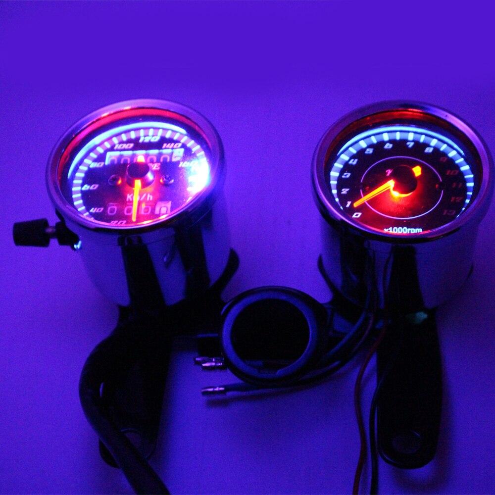 Chroomfiets snelheidsmeter toerenteller set 0 ~ 160km / h - Motoraccessoires en onderdelen - Foto 2