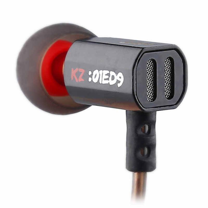KZ ED9 douszne Super Bowl Tuning dysze słuchawki w ucho monitory HiFi słuchawka z mikrofonem przejrzysty dźwięk