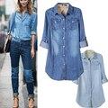 Women's New Cool Women Vintage Style Denim Coat Boyfriend Long Sleeve Loose Jean Jacket  free shipping