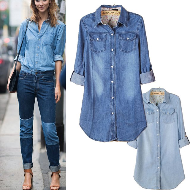 1131d6d74041 Women's New Cool Women Vintage Style Denim Coat Boyfriend Long Sleeve Loose  Jean Jacket free shipping