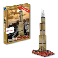 Candice Guo 3D Puzzle DIY Toy Paper Building Model Assemble Hand Work Game Sears Willis Tower