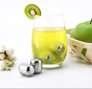 Image 4 - 新しい youpin サークル喜びアイスキューブ再利用可能な 304 ステンレス鋼洗える冷却クールアイスモールド用ワインコルクフルーツジュース