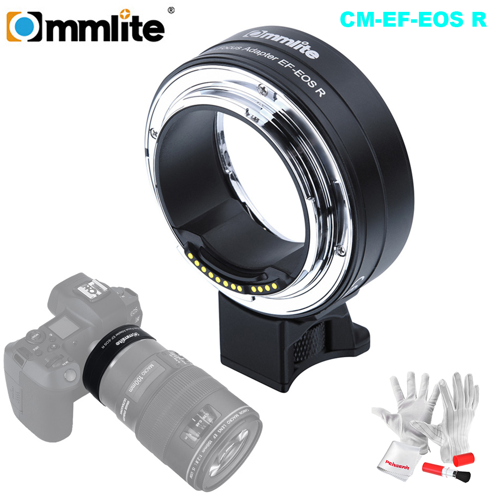 Commlite Electronic AF Lens Mount Adapter from Canon EF EF S Lens to Canon EOS R