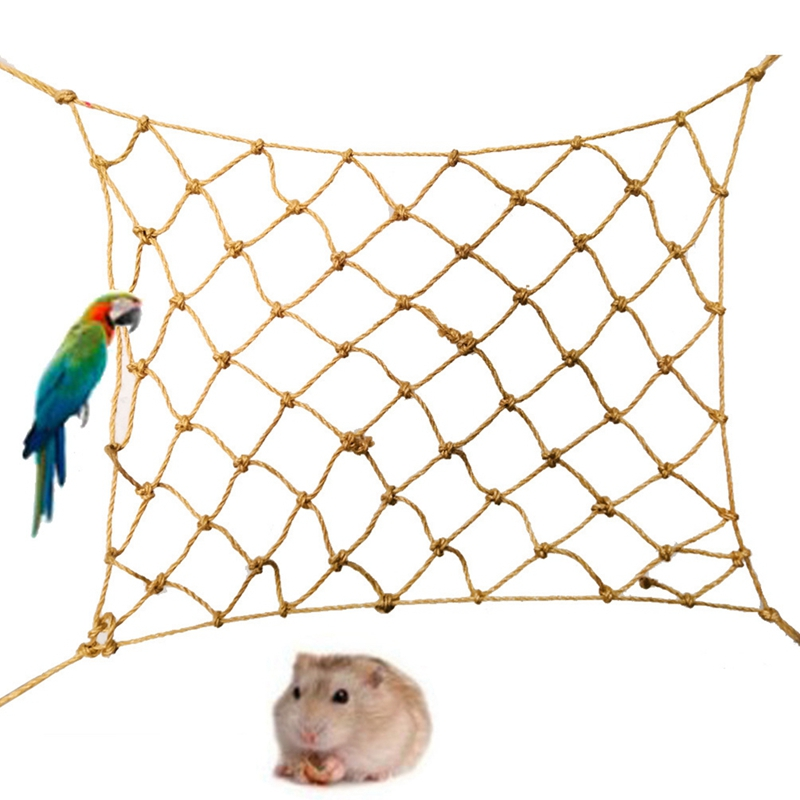 Lovely Parrot Bird Cage Toy Game Hanging Rope Climbing Net Swing Ladder Parakeet Hamster Macaw Play Gym Toys Small Pet Toy Excellent Quality In