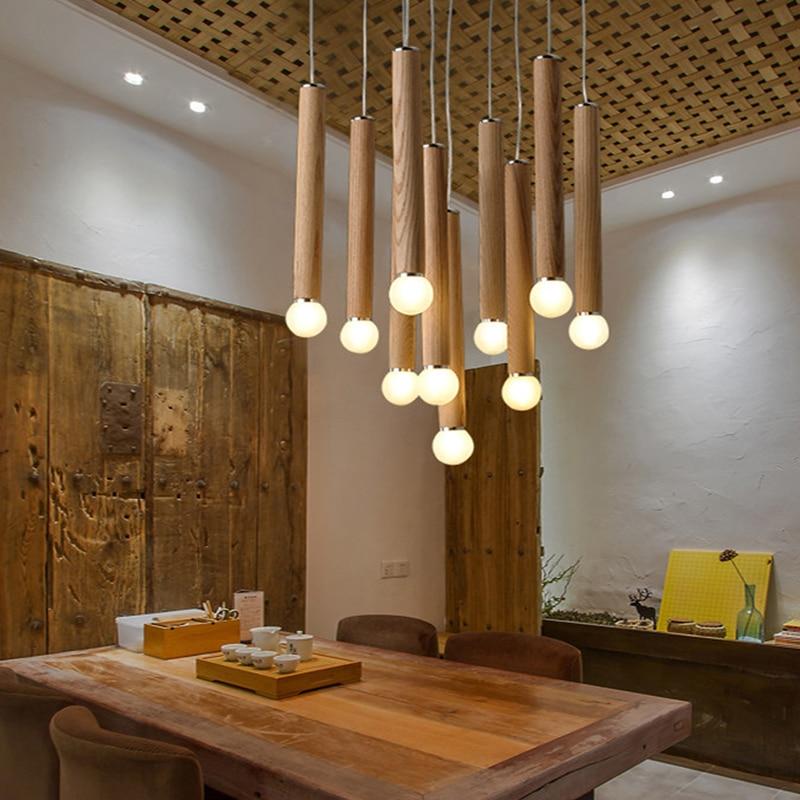 madera colgante de sombra lmparas base de la lmpara de mesa de madera rstica lamparas colgantes