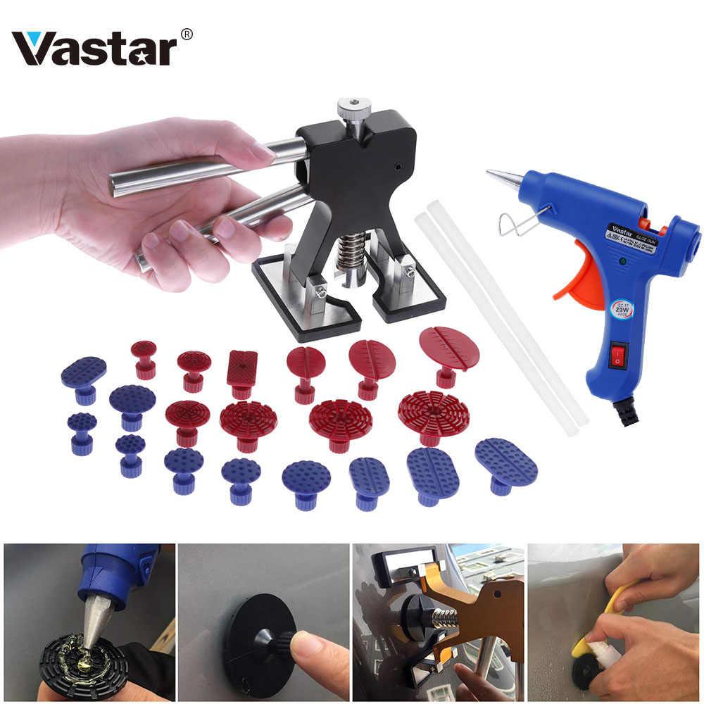 Vastar инструменты безболезненные вмятин ремонтные инструменты вмятин удаление вкладки для инструмента для правки вмятин кузова вмятин Lifter ручной инструмент набор выбрать горячий расплав клеевой пистолет
