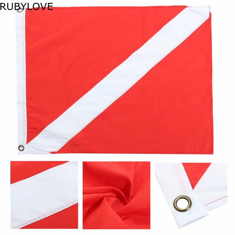 1pcs 35x50cm Polyester Hot Big Diver Down Boat Pennant Flag Scuba Diving Banner International Sign Diving Supplies LTT9293