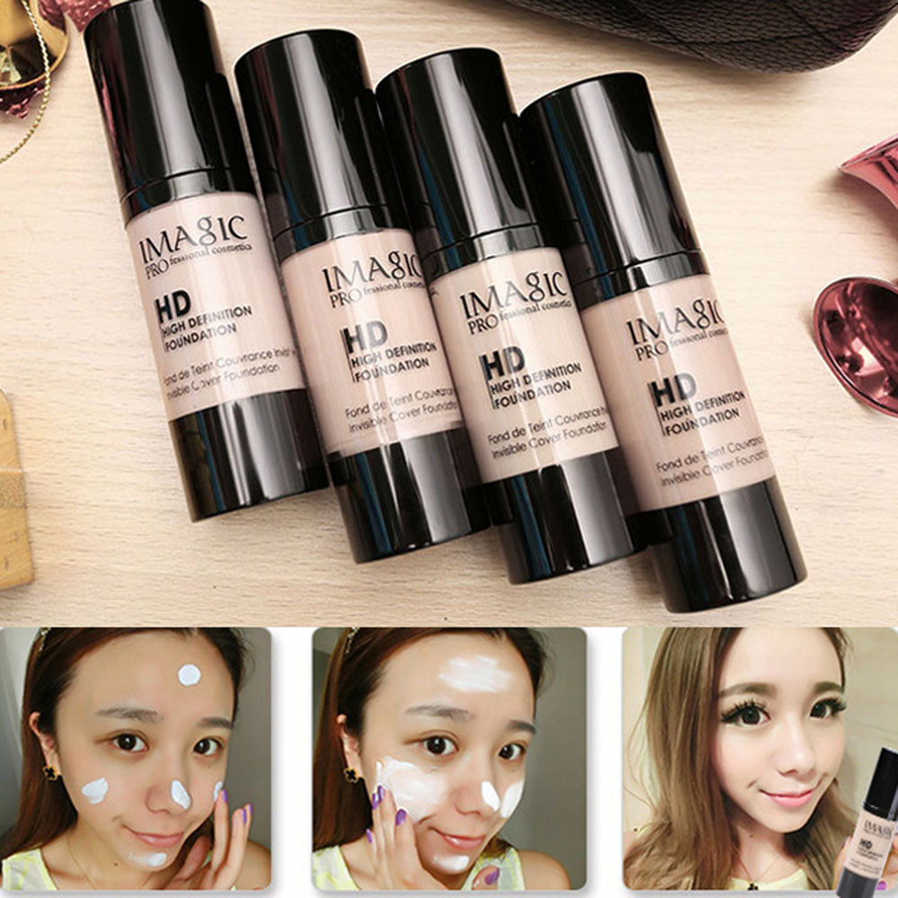 IMAGIC Professional Whitening Moisturizing HD Liquid Foundation Concealer Highlight Shadow Makeup Cosmetic