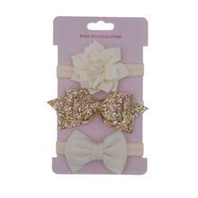 baby Headband Set  Flower headbands hair band Sequin hair bows for girls Headwear Kid Princess newborn Hair Accessories 3pcs/lot