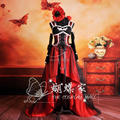 Anime Costume Noble Palace Black Red Dress Gothic Lolita Cos Women Men Cosplay Animation Clothing