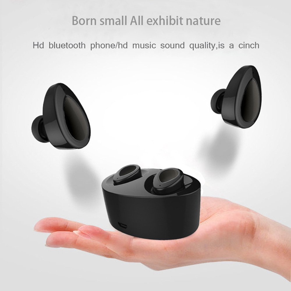 Sago K2 Wireless Earphones Bluetooth Earbuds Mini True Stereo Earphones Sweatproof with Built-in Mic for iPhone iPad Samsung