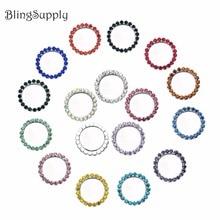 Iç 25mm rhinestone düğmeler tepsisi şişe kapağı ayarı cabochons Cameo seçebilirsiniz stilleri Mix 16 renkler 100 adet BTN 5494