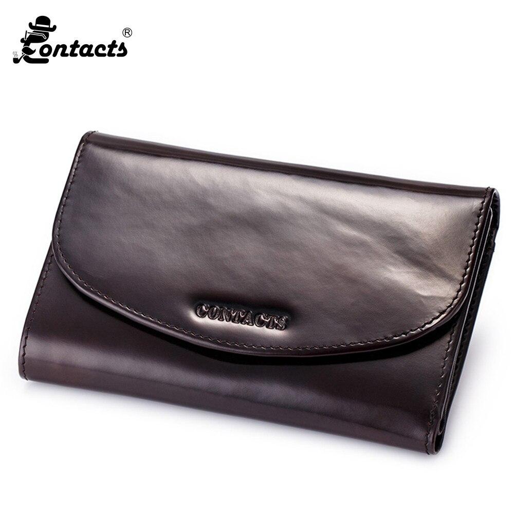 Contacts m1037 hommes long portefeuille designer bruni italie en cuir mâle sac à main de mode dembrayage portefeuilles de mode