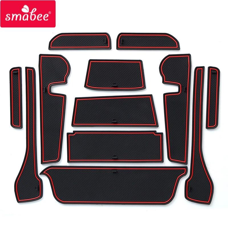smabee Gate slot pad Mat For TOYOTA PASSO MODA Japan Non slip Mats Interior Door Pad/Cup Mat red/white/black Interior Door Pad