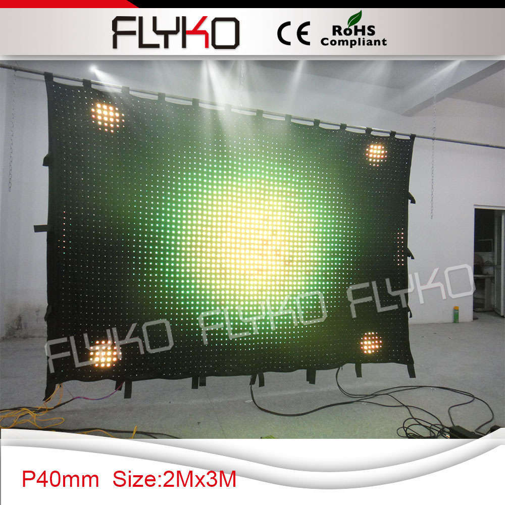 3750pcs led lamp super bright party led light curtain backdrop flightcase shipping