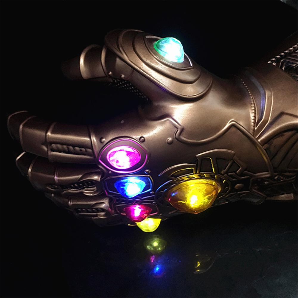 1:1 Marvel Avengers 3 Infinity War Infinity Gauntlet LED Light Thanos Gloves Cosplay Action Figure Costume party1:1 Marvel Avengers 3 Infinity War Infinity Gauntlet LED Light Thanos Gloves Cosplay Action Figure Costume party