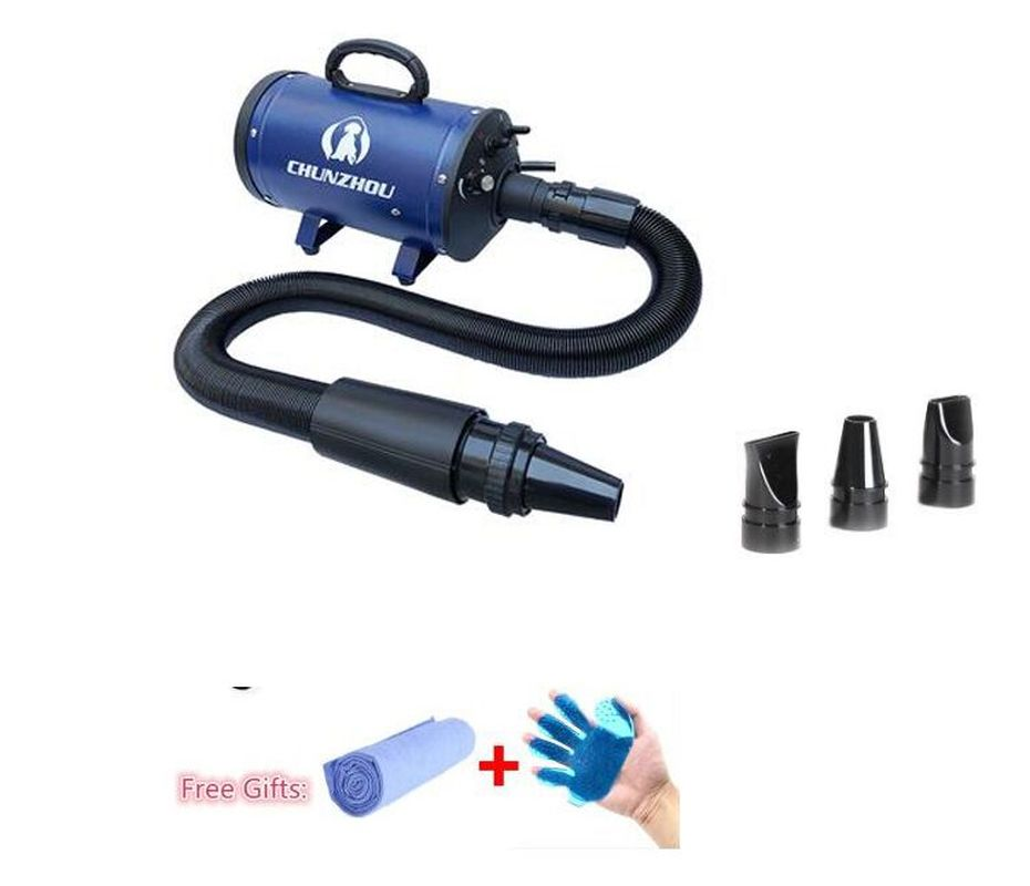 EMS Free !Pet Blowing Machine Mute High Power Hair Dryer Professional Big Dogs Cats Blow Dryer Grooming Dryer Pet Dryer 220/110V