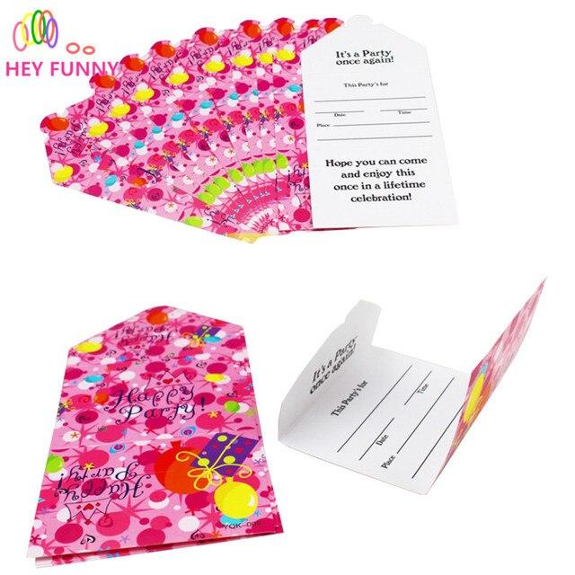 Aliexpresscom Buy 12pcslot Birthday Invitation Card Party