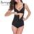 Burvogue shapers quentes curto zipper & fivela cintas de látex shaper shapewear para as mulheres slimming body shaper da cintura e barriga de controle