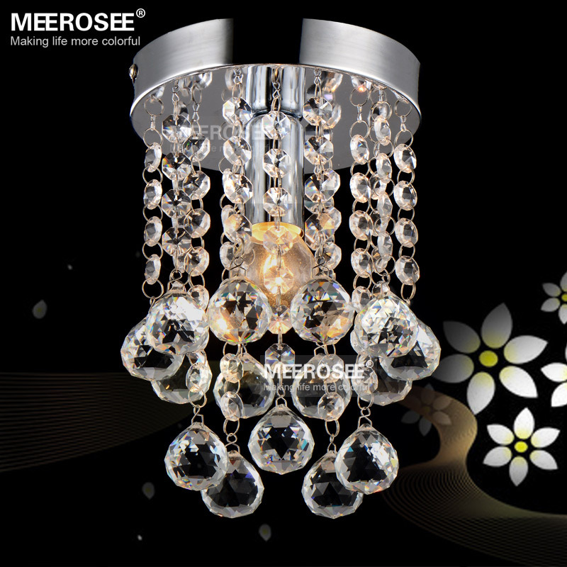 1 light Crystal Chandelier Light Fixture Small Clear Crystal Lustre ...
