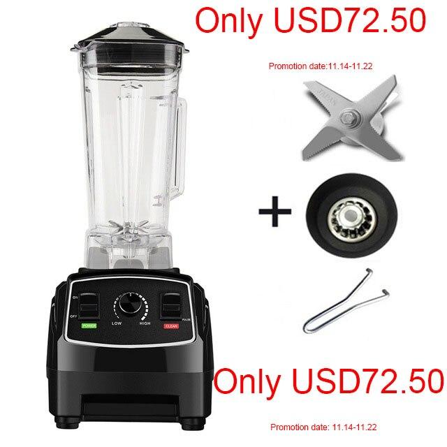 BPA бесплатно 3HP 2200 Вт Сверхмощный коммерческий блендер миксер высокой мощности кухонный комбайн лед смузи бар фрукты Электрический блендер