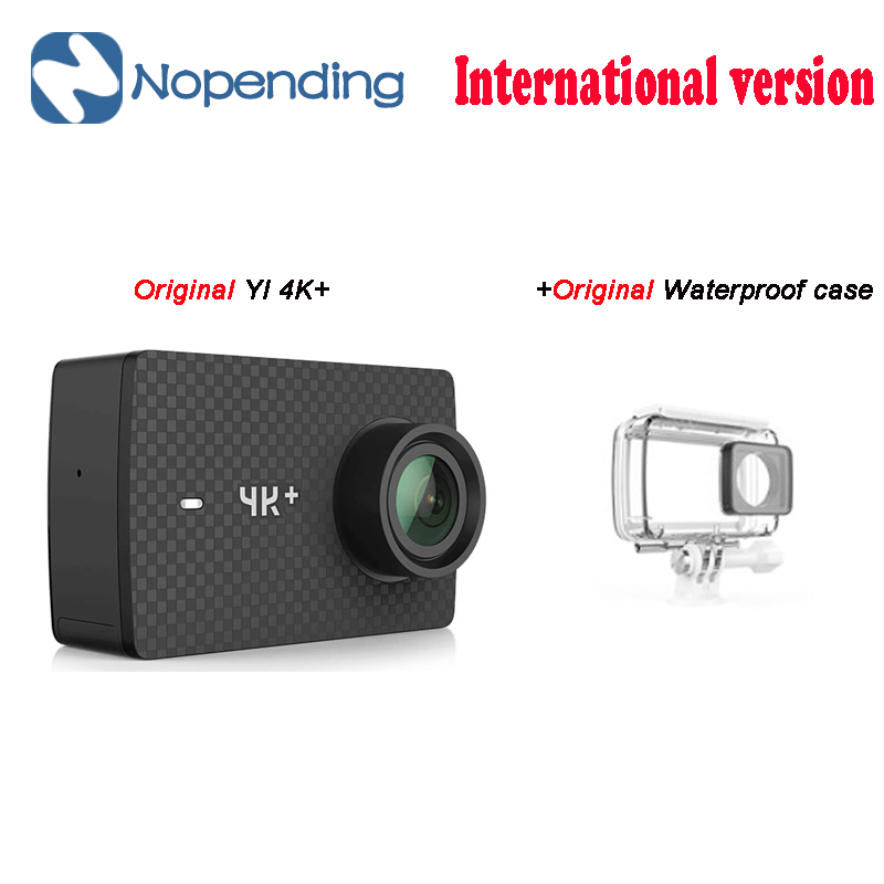 Original novo YI 4 K + Ação Esporte Câmera 4 K + Xiaoyi 2.19 'Ambarella H2 para SONY IMX377 12MP 155 Graus 4 K Ultra HD Câmera de Esportes