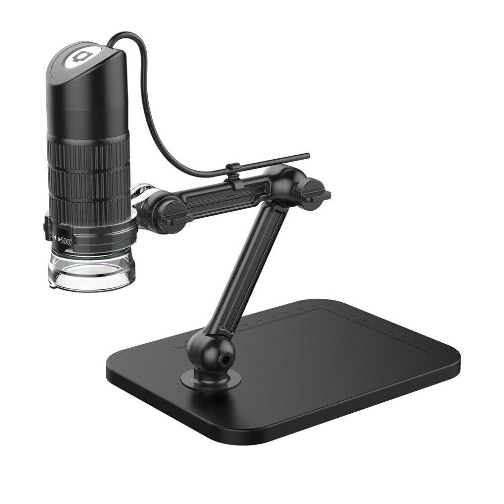 500X 800X 1000X HD USB Microscopio Elettronico Esposizione Microscopio Digitale Con 8 LED Luce Lente di Ingrandimento Ottico Video Macchina Fotografica