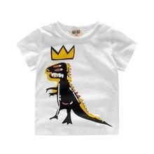 2017 Hot Fashion Boys T-shirt Kids Tops Tee Designer Toddler Dinosaur Printing T Shirts Cotton Short Sleeve Children Clothes